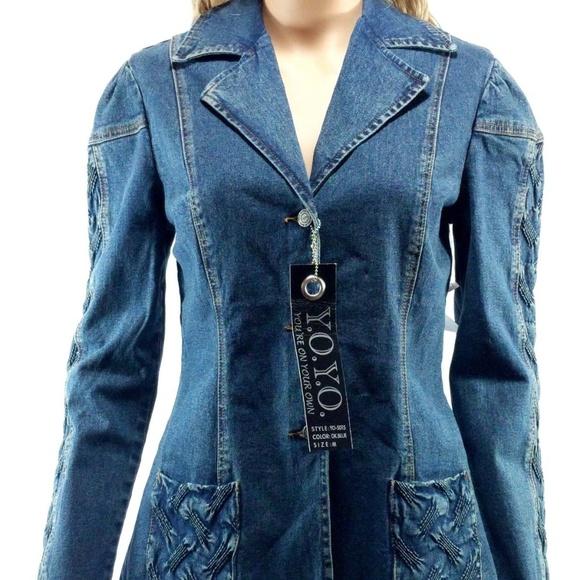 83cd6e1e7d97 YOYO Size Medium Jean Jacket Button Down NWT